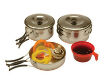 Stainless Steel Backpacker Cookset