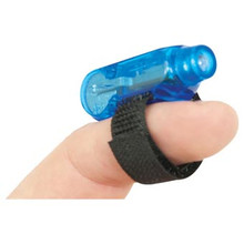 Finger Light Flashlight  . The color of the flashlight and strap you'll be receiving is black