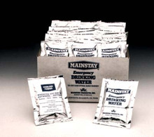 Emergency Water Pouches- Drinking water to go. Great for Emergency Kits