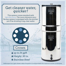 Crown Berkey Stainless Steel Water Filter