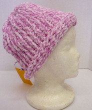 Hat Pink and White, handmade crochet