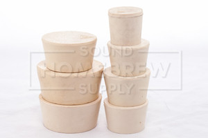 Rubber Stopper, Solid No. 6.5