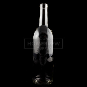 Bottle - Flint (Clear) Claret (Bordeaux), Punted 750ml