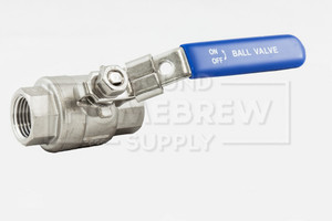 "Ball Valve, Stainless 1/2"" Full Port"