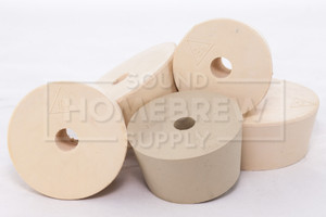 Rubber Stopper, Drilled No. 9