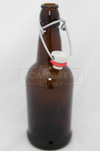 Bottle, EZ Cap - Amber 16 oz (each)