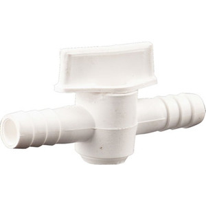 "Plastic Ball Valve, for 3/8"" tubing"