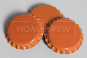 Bottle Caps, Orange (50 ct)
