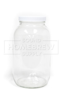 Jar, Wide Mouth w/ Lid 1/2 gal