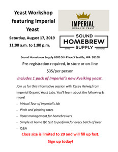 Yeast Workshop with Casey Helwig from Imperial Yeast