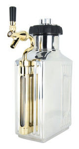 Craft Master CO2 Growler 64 oz - Brushed Silver