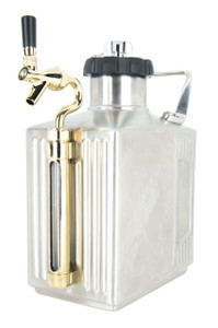 Craft Master CO2 Growler 128 oz (1 gallon) - Brushed Silver