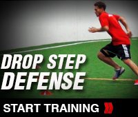 Soccer Drop Step Defense Drill