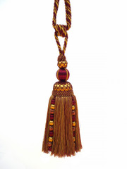 Marakesh Large Tieback Tassel, Colour 1 Burgundy/ Gold [ONLY 4 LEFT]