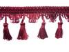 Flamenco 70mm Tassel Fringe, Colour 5 Burgundy [ONLY 6 METRES LEFT]