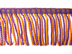 Calgary 70mm Bullion Fringe, Colour 1 Orange/ Purple