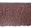 Kingsford 150mm Tassel Fringe, Colour Black/ Red