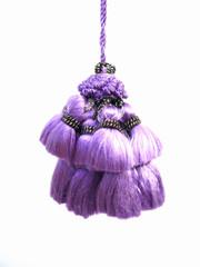 Jewel 70mm Key Tassel, Colour 1 Purple