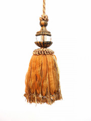 Mini Oriental 180mm Key Tassel, Colour 1 Gold