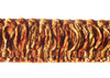 Dakar 50mm Chenille Cut Ruche, Colour 3 Russet