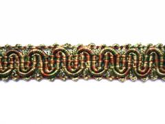 Caroline 14mm Gimp, Colour 1 Moss/ Tan