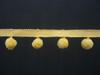 15mm Ball Pom Pom Fringe, Colour 8 Buttercup