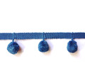 20mm Ball Pom Pom Fringe, Colour 5 Periwinkle [ONLY 4 METRES LEFT]