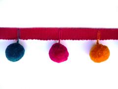 20mm Ball Pom Pom Fringel, Colour 1 Multicolour [SOLD OUT]