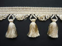 Vichy 80mm Tassel Fringe, Colour 1 Wheat