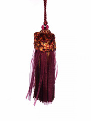 Ribbons 120mm Key Tassel Colour 1: Red Berry [ONLY 5 LEFT]