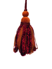 Chenille 120mm Key Tassel Colour 1: Red Berry