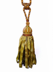 Chenille Tieback Tassel, Colour 1 Autumn Gold [ONLY 1 LEFT]