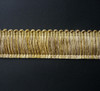 Como 40mm Brushed Fringe Cut Ruche, Colour 6 Aztec Gold