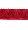 Como 40mm Brushed Fringe Cut Ruche, Colour 2 Ruby [ONLY 4 METRES LEFT]