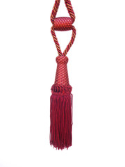 Princess Tieback Tassel, Colour Ruby/ Gold