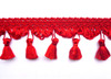 Princess 60mm Tassel Fringe, Colour Scarlet