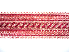 Omega 45mm Braid, Colour 1 Pinks [ONLY 5 METRES LEFT]