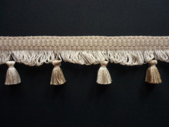 Nina 65mm Tassel Fringe, Colour Mixed Naturals [ONLY 4 METRES LEFT]