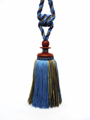 Alhambra Tieback Tassel, Colour Azure/ Gold [ONLY 1 LEFT]