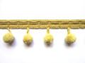 Cotton Knit Border 25mm Pom Pom Fringe, Colour Pale Banana 5 Metre Lot Buy
