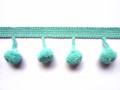 12mm Ball Pom Pom Fringe, Colour 4 Turquoise [ONLY 9 METRES LEFT]