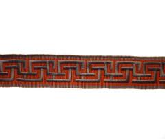 Greek Key 35mm Braid, Colour 1 Tumeric/ Pewter
