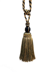 Casablanca Tieback Tassel, Colour Black/ Gold Taupe
