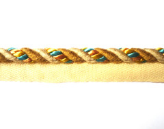Jamaica 8mm Flange Cord Colour Taupe/ Gold