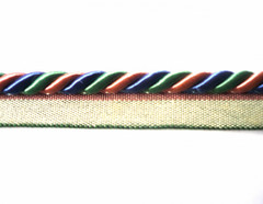 Brazil 8mm Flange Cord, Colour Coral/ Blue/ Kelly Green 10 Metre Lot Buy