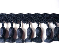 Tulips 70mm Tassel Fringe Colour Navy 3 METRE LOT BUY