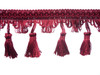 Flamenco 70mm Tassel Fringe Colour Burgundy 10 METRE LOT BUY