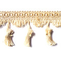 Flamenco 70mm Tassel Fringe Colour French Cream 5 METRE LOT BUY