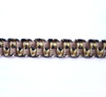 Lourdes Spanish 12mm Gimp Braid Colour Coffee/ Black [12 METRE LOT BUY]