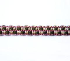 Lourdes Spanish 12mm Gimp Braid Colour Olive/ Raspberry [7 METRE LOT BUY]